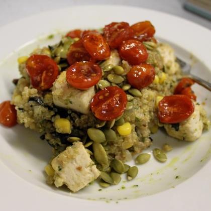 quinoa + chard